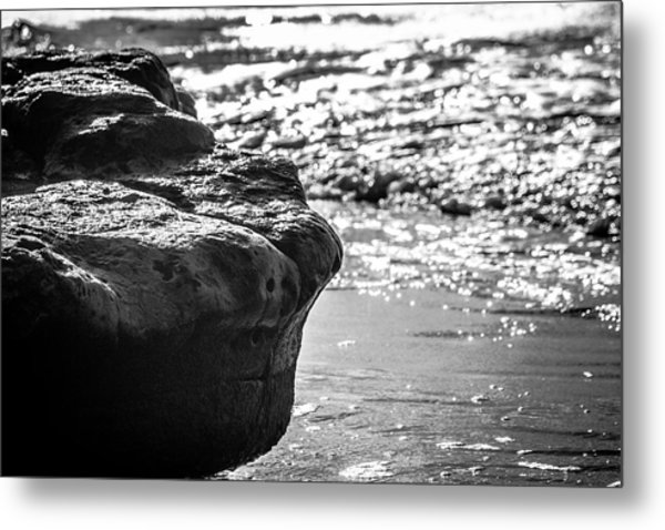 Break In The Surf Metal Print