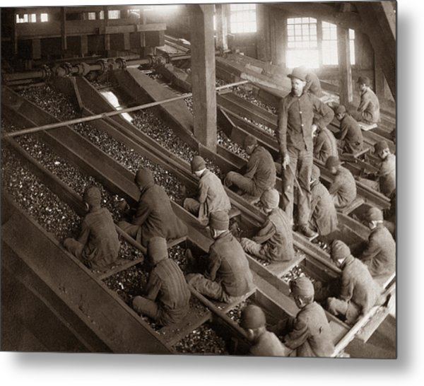 Breaker Boys Lehigh Valley Coal Co Maltby Pa Near Swoyersville Pa Early 1900s Metal Print