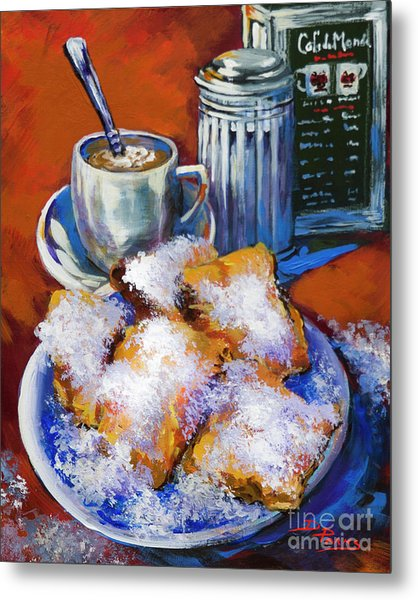 Breakfast At Cafe Du Monde Metal Print