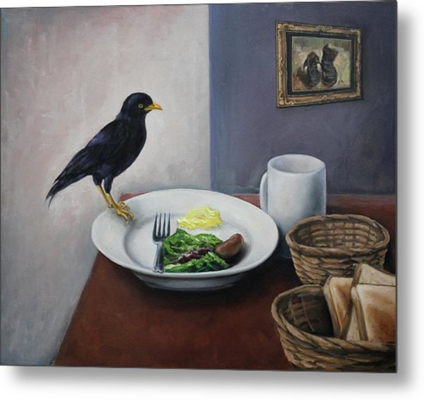 Breakfast At The Bird Park Metal Print by Michelle Barone