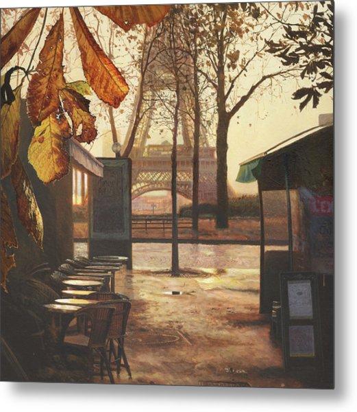 Breakfast In Paris Metal Print