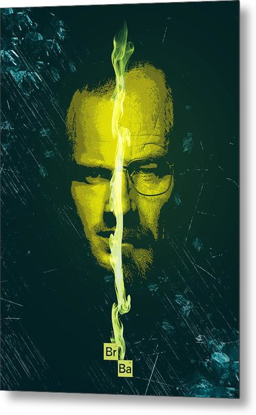 Breaking Bad Poster Heisenberg Print Walter White And Jesse Pinkman Portrait Wall Decor Metal Print
