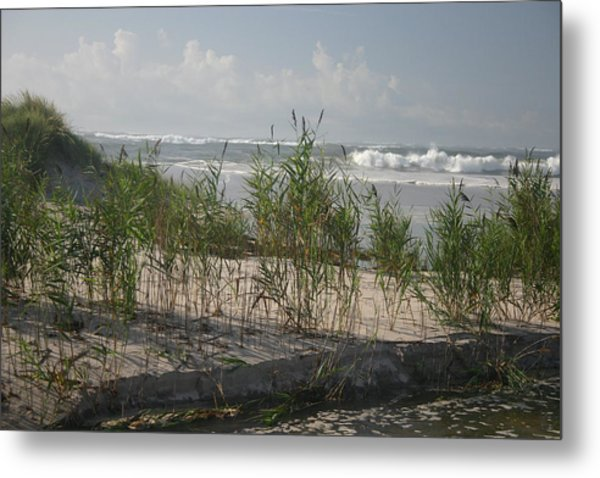 Breaking Calm Metal Print by Dennis Curry
