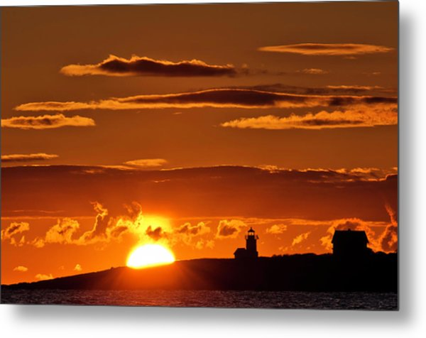 Breaking Dawn Over Straitsmouth Metal Print