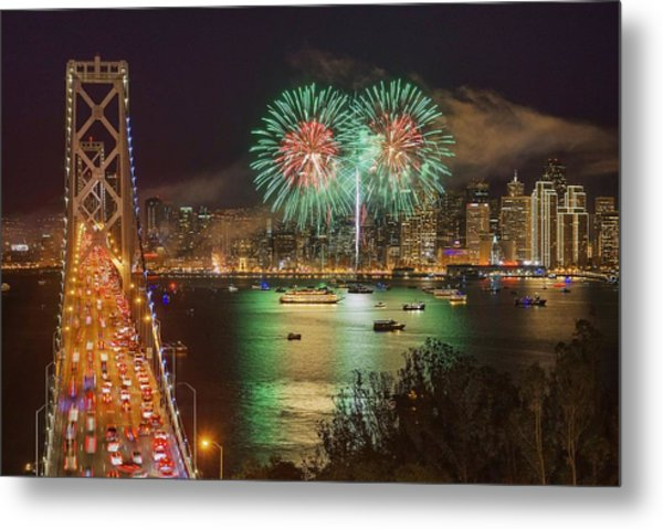 Breaking Rules On New Year's Eve Metal Print