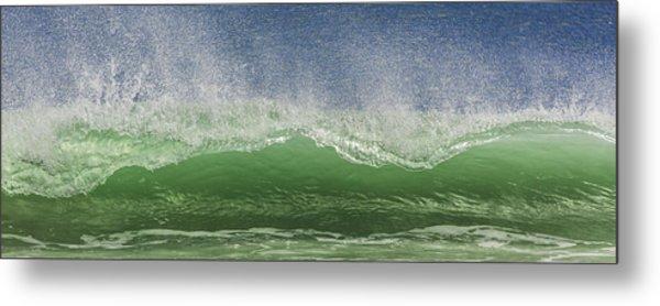 Aqua Wave Metal Print by Paula Porterfield-Izzo