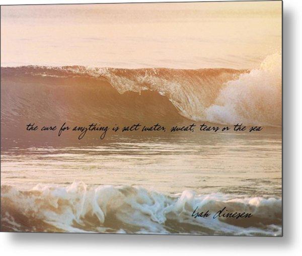 Breaking Wave Quote Metal Print