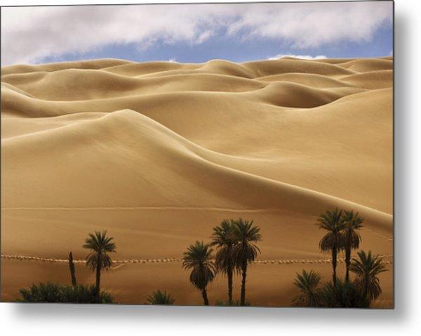 Breathtaking Sand Dunes Metal Print
