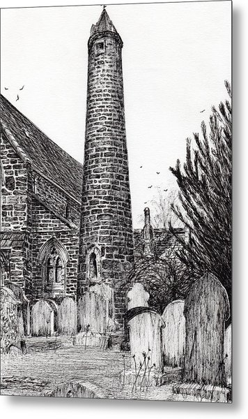 Brechin Round Tower Metal Print