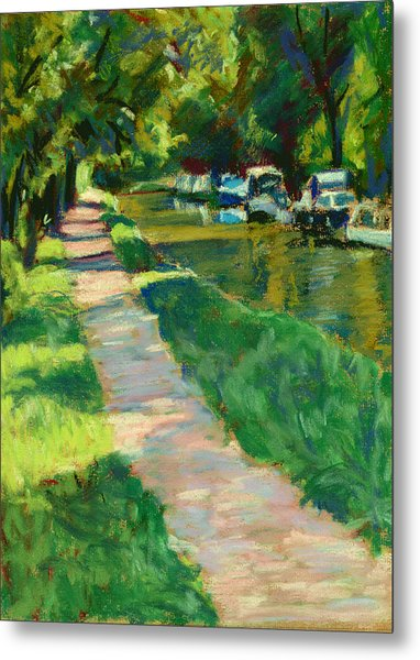 Brecon And Monmouth Canal At Goytre Wharf Metal Print by Judy Adamson