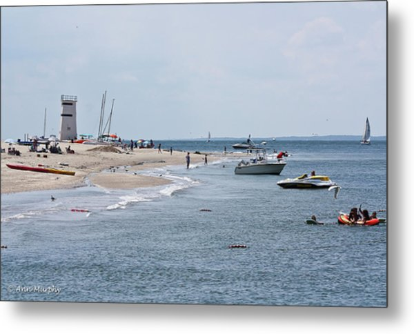 Breezy Point Lighthouse Metal Print