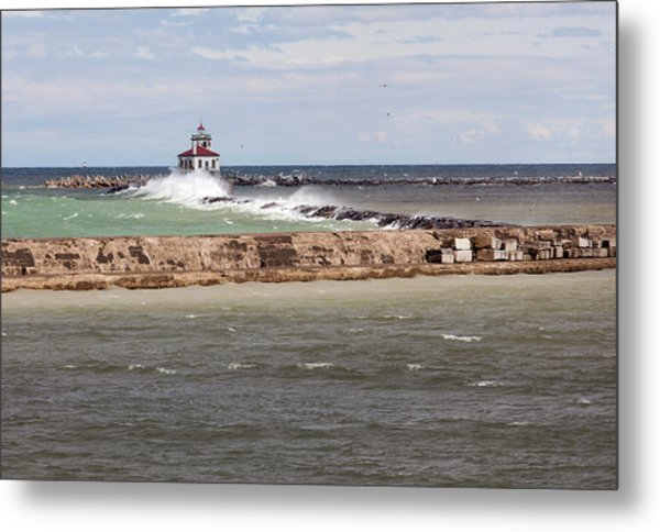Metal Print featuring the photograph Breitbeck Park, Overlooking Oswego Harbor by Chris Babcock