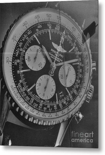 Breitling Chronometer Metal Print