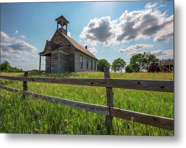 Metal Print featuring the photograph Bremen Schoolhouse by Darren White