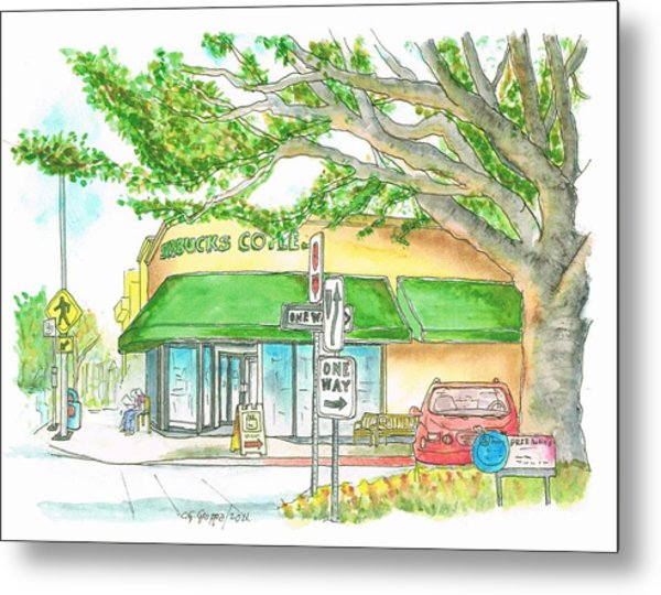 Starbucks Coffee In Brentwood, California Metal Print