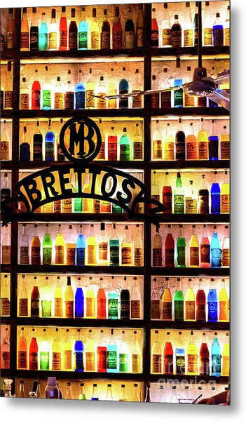 Brettos Bar In Athens, Greece - The Oldest Distillery In Athens Metal Print