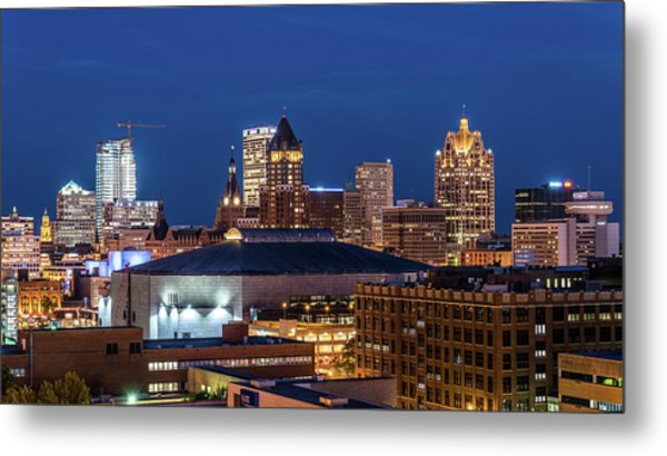 Brew City At Dusk Metal Print
