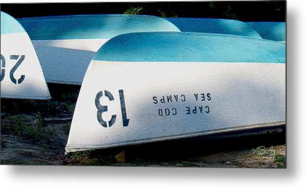Brewster Ma Boat Bottoms Metal Print