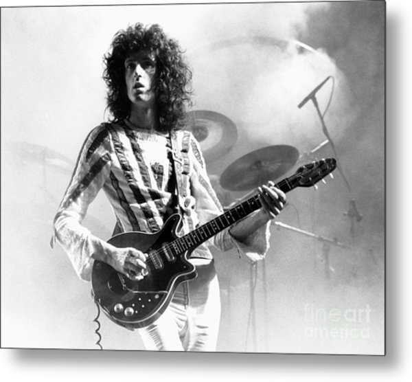 Brian May Of Queen 1975 Metal Print by Chris Walter