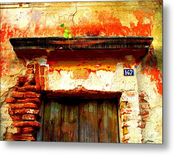 Brick And Wood By Darian Day Metal Print by Mexicolors Art Photography