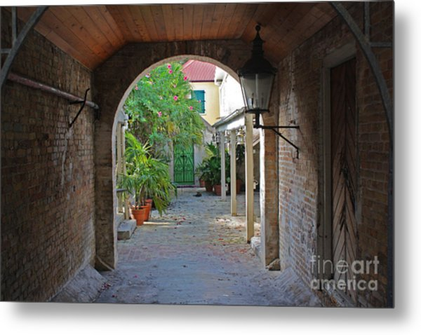 Brick Entryway Metal Print