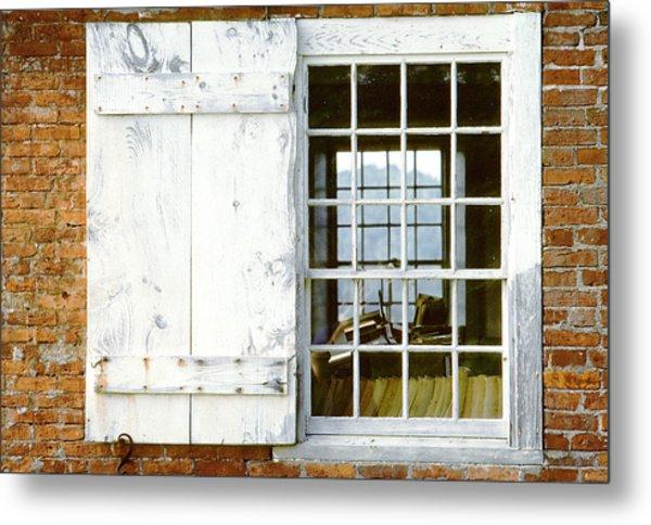 Brick Schoolhouse Window Photo Metal Print