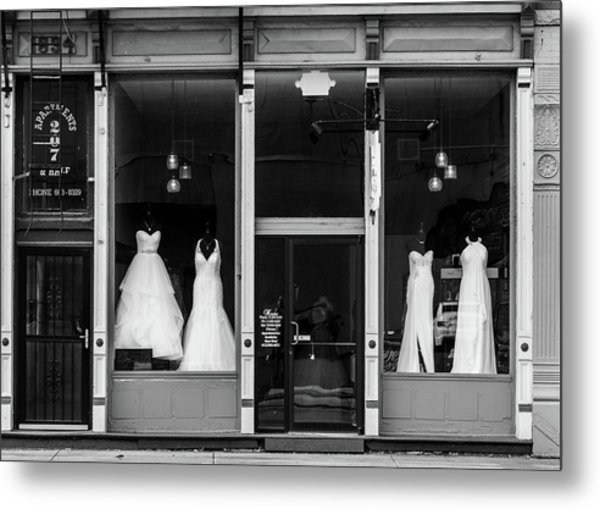 Bridal Gowns Metal Print by Al White