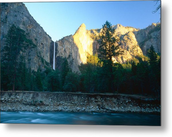 Bridal Vail Falls Sunset Metal Print by George Oze