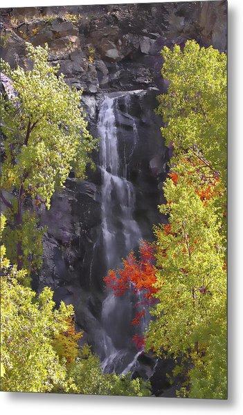 Bridal Veil Falls Black Hills Metal Print by Rich Stedman