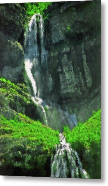 Bridal Veil Falls Canvas 1 Metal Print by Steve Ohlsen