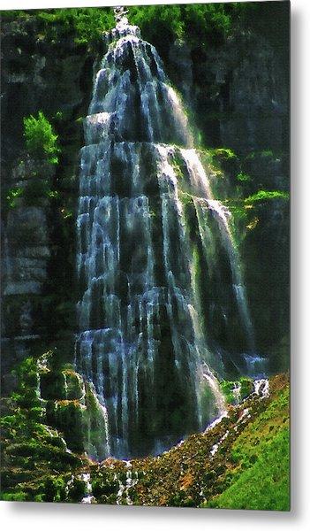 Bridal Veil Falls Canvas 2 Metal Print by Steve Ohlsen