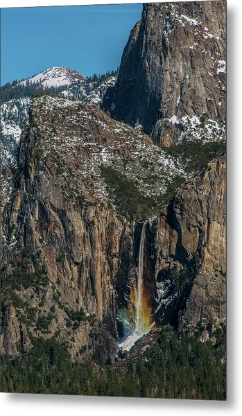 Bridal Veil Rainbow Metal Print