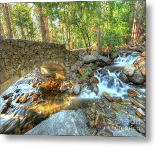Bridalveil Creek At Yosemite By Michael Tidwell Metal Print
