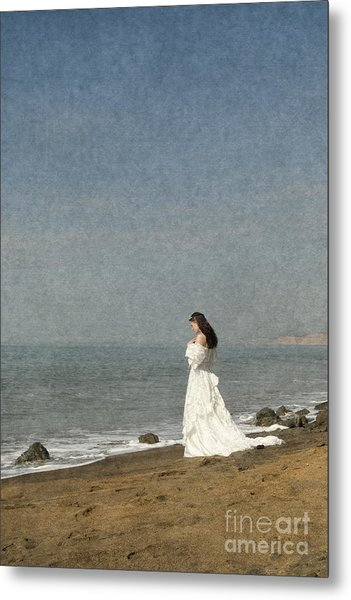 Bride By The Sea Metal Print