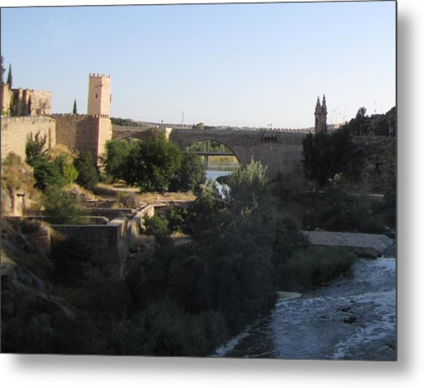 Bridge Across Toledo Metal Print