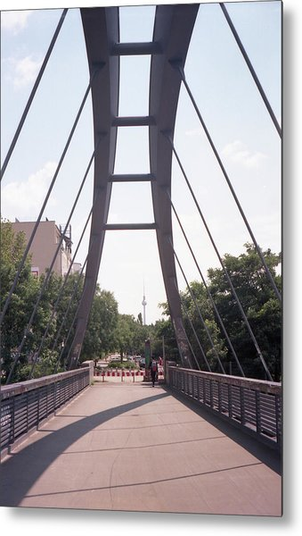 Bridge And Alexanderplatz Tower Metal Print