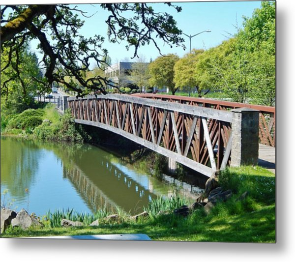 Bridge At Cox Creek Metal Print