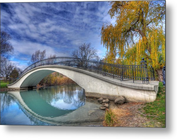 Bridge At Elizabeth Park Metal Print