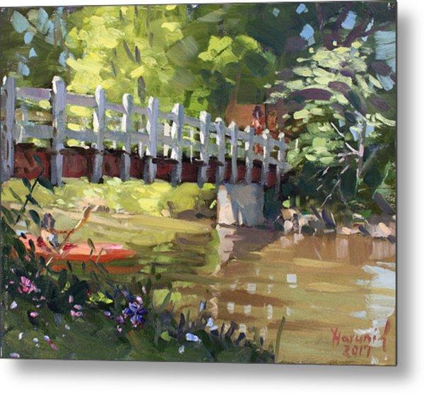 Bridge At Ellicott Creek Park Metal Print