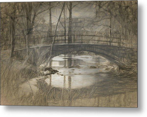 Bridge At The Fens Metal Print