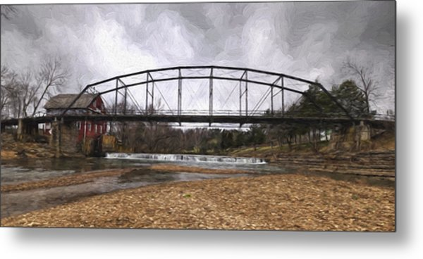 Bridge At The Mill Metal Print