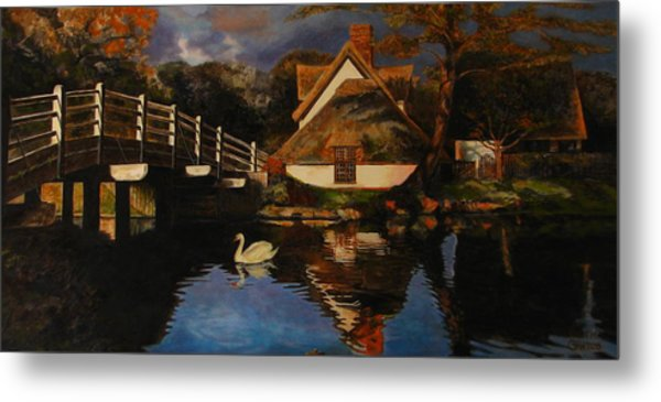 Bridge Cottage Metal Print