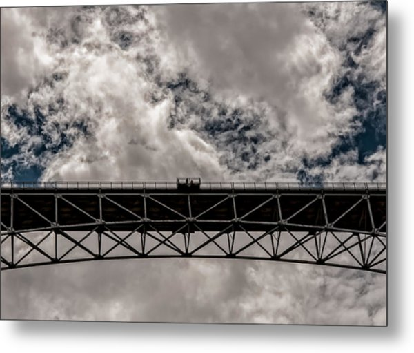 Bridge From Below Metal Print