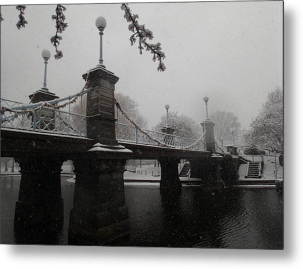 Bridge In Suspension 1867 Metal Print
