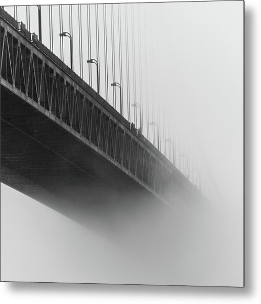 Metal Print featuring the photograph Bridge In The Fog by Stephen Holst