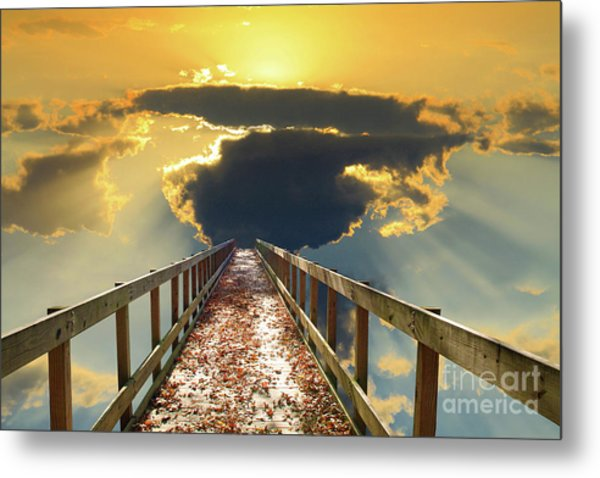 Bridge Into Sunset Metal Print