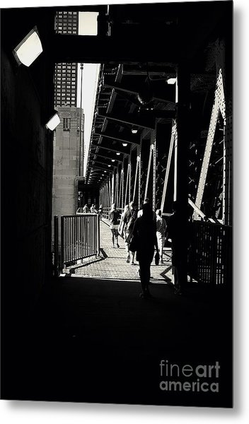 Bridge - Lower Lake Shore Drive At Navy Pier Chicago. Metal Print