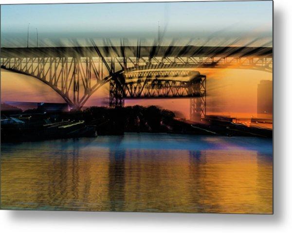 Bridge Motion Metal Print