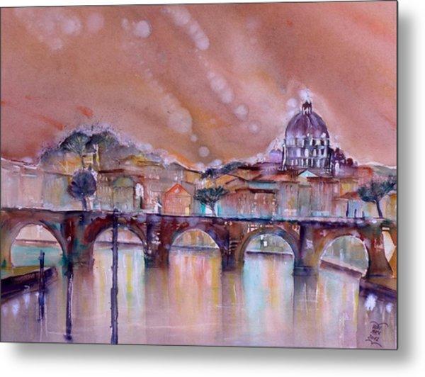 Bridge Of Angels - Rome - Italy Metal Print