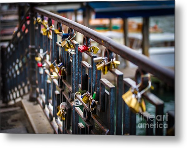Bridge Of Love Venice Metal Print by Ken Andersen